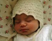 off white baby silk angora merino hat Lara -  0-3month