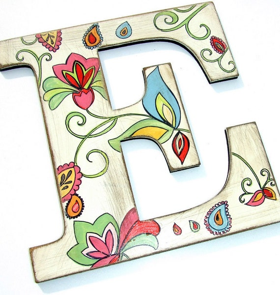 Items Similar To Welcome Personalized Handpainted Wooden Letters Old Rusty Style Shabby