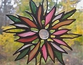 Reserved for Lynn-Stained Glass Floral Suncatcher