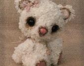 Miniature Handmade German Cotton Fur Artist Teddy Bear Cherish