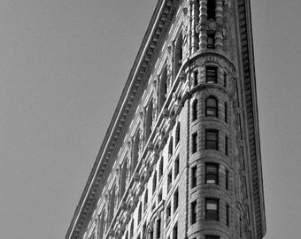 Black and White Print of New York City Flatiron Building