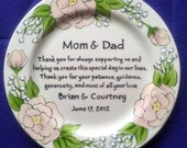 Mother of the Bride Gift Personalized to my Mom and Dad- Wedding Gift ...