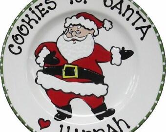 Cookies for Santa - Santa Cookie Plate - Custom Christmas Plate - Jolly Santa