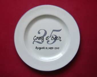 Wedding Guest Book  Anniversary Signature Plate Anniversary Gift