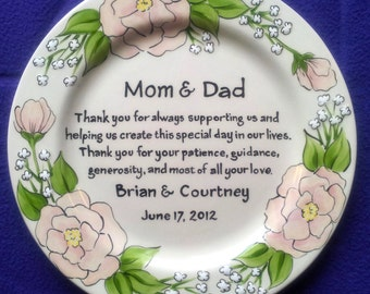 Wedding Anniversary Gift For Mom And Dad : Mother of the Bride Gift Pe rsonalized to my Mom and Dad- Wedding Gift ...