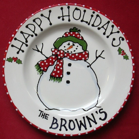 Items Similar To 10 Snowman Plate Cookies For Santa