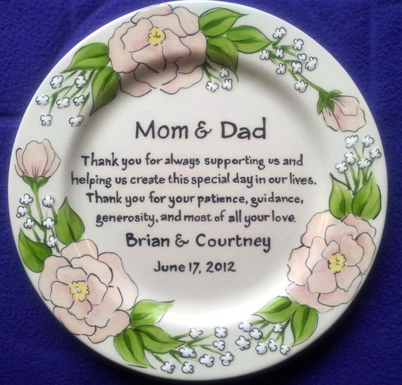 ... Gift Personalized to my Mom and Dad- Wedding Gift for Parents - Roses