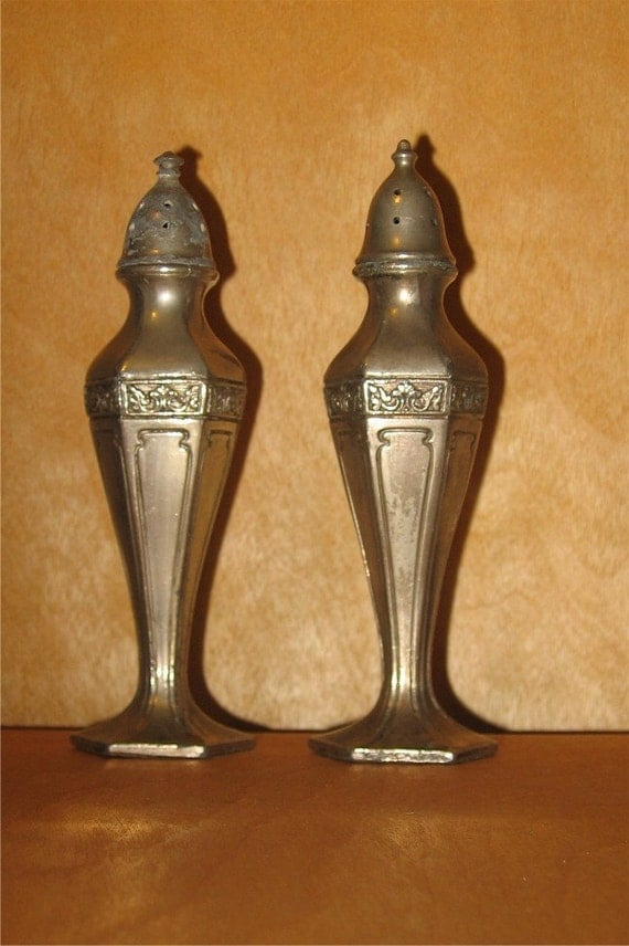 Pewter Salt And Pepper Shakers By Cs Co 9039