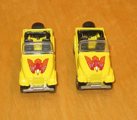 Pair of Toy Yellow Jeeps by Mattel - 9152