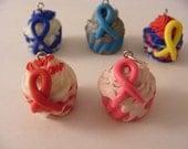 Mini Awareness Cupcake pendant - choose one