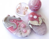 Orphans SALE- 4 Lampwork beads / pendants
