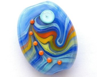 BINDU- 1  focal Lampwork bead / pendant