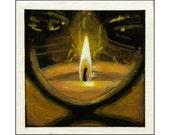 Candle print of an original painting
