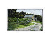 Vineyard in Cape May print of an original painting