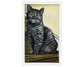Evilo the Cat print of an original painting