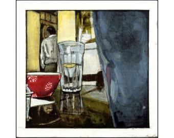 Table at Sabrina's print of an original painting