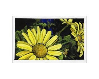 Daisies print of an original painting