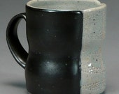 Pale Celadon and Black Coffee Cup (with stippled panel)
