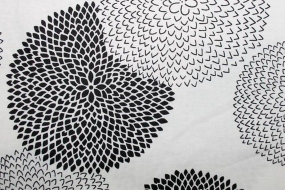 Black and White Cotton Fabric from Robert Kaufman (Yardage Available)