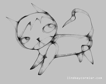 Strange Cat Print