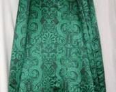 Green Renaissance Satin skirt