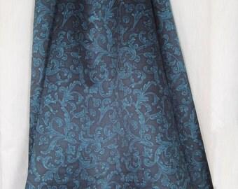Teal Renaissance Satin skirt