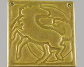 """Unique and beautiful """"Dancing Horse"""" ceramic tile"""