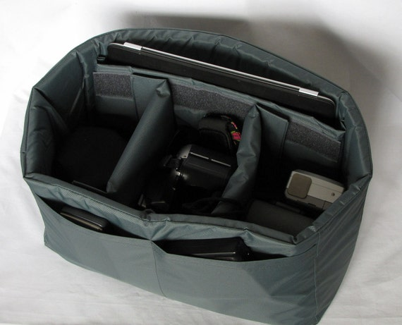 PreOrder DSLR Camera Bag Insert in Grey - Adjustable Dividers - Custom Sizes