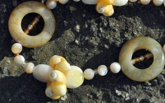 Yellow Gold Maui Shell Beachy Necklace