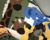 Held for Jessica* SALE! Jungle Animal Baby Afghan - 60% off