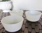 Milk Glass Mini Bowls (Set of 3)