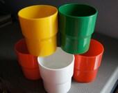 Vintage Ingrid Cups (Set of 5)