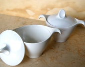 White Melamine Sugar Dish with Lid