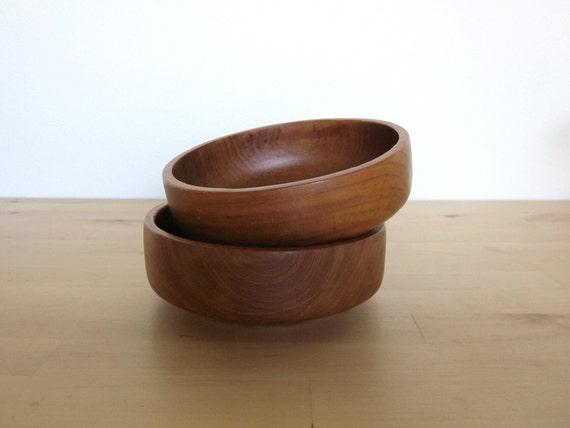 Teak Wood Bowls (Set of 2)