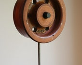 Vintage Wooden Foundry Mold Pattern mounted on stand
