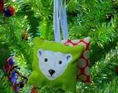 Jack the Polar Bear Hand Painted Ornament by SBMathieu