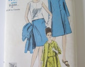 1960s UnCut Misses Two-Piece Dress and Coat Sewing Pattern