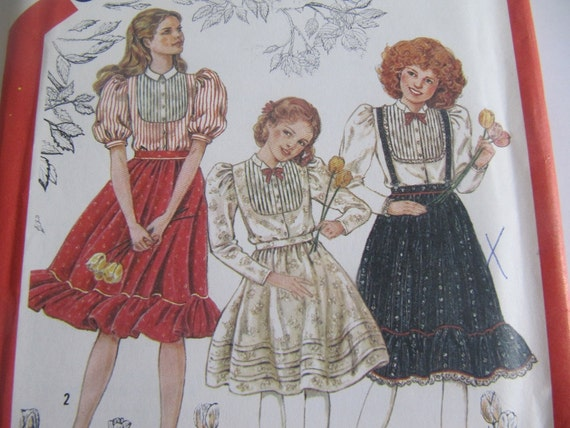 Girls Skirt and Blouse UnCut Sewing Pattern