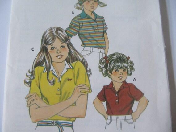 Vintage Girls Shirt UnCut Sewing Pattern
