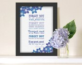 FORGET ME NOT Subway Printable from President Uchtdorf- Instant Download