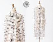 reserved // 60s cape / 1960s rain coat polka dotted : The Sun Will Come Out
