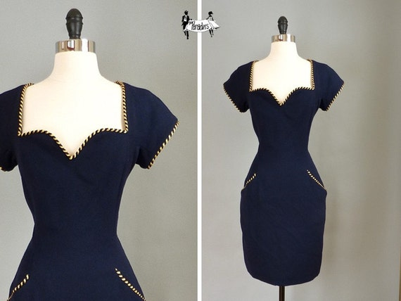 vintage NATALIE wiggle dress (w100a01-1)
