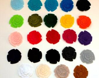 48 Die Cut Felt Flowers--a Dozen Flower Sets -- Pick Your Own Colors