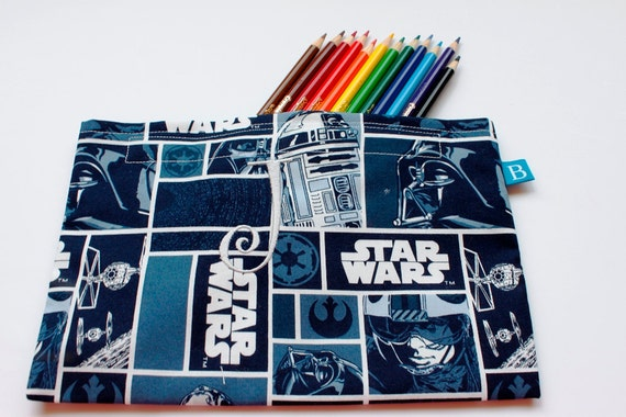 Eco-Friendly Monogrammed Pencil Case in Classic Star Wars Fabric