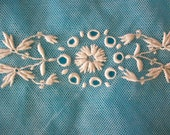 3 Antique french hand embroidered salesmans lace sample