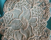 Antique applique made of silk and lace