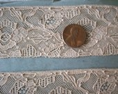antique Point de Gascogne french lace on original roll, more avail.