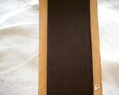 2 yards Vintage grosgrain ribbon in black or dark chocolate