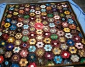Antique silk quilt dated 1884