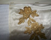 Antique french gold metal lace trim samples